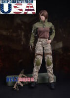 "1/6 Camouflage Combat Clothing Set For 12"" Phicen Hot Toys Female Figure U.S.A."