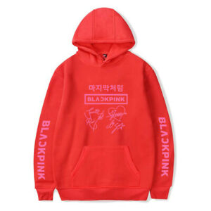 KPOP Black Pink Lisa JISOO Jennie Rose Hooded Pullover Sweatershirts Hoodie Tops