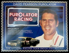 DAVID PEARSON / PUROLATOR RACING ~ Willabee & Ward NASCAR RACE TEAM PATCH Card