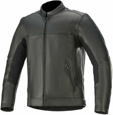 Alpinestars Topanga Leather Motorcycle Motorbike Jacket Black