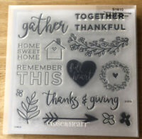 Close To My Heart My Acrylix Stamp Set THANKS & GIVING S1810 Scrapbooking