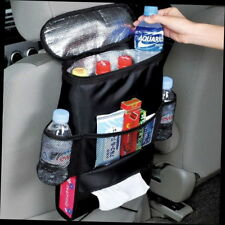 Car Auto Seat Back Multi-Pocket Storage Bag Organizer Holder Travel Hanger Black