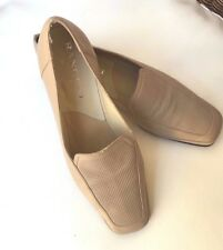 RANGONI Firenze Loafers Sz 7AA Made in Italy Camel Color