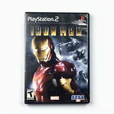 Iron Man Marvel Comics PS2 Playstation 2 Video Game Disk Case Vintage Tony Stark