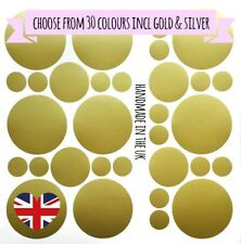 1 2 3 Inch Polka Dots Vinyl Wall Art Decals Wall Stickers Confetti Gold Circle