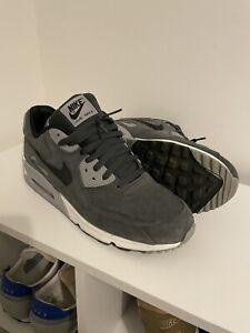 Nike Air Max 90 Premium Grey Suede UK 11 US 12