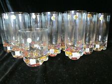 Amethyst Bottom 8 Highballs 1 Double Old Fashioned Tumblers Thick Bottoms