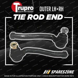 2 Pcs Trupro Outer Tie Rod Ends for Holden Barina TK Hatch 12/2005-11/2011