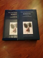 William Shakespeare SONETTI a cura di A. Serpieri Classici Rizzoli 1 ed. 1991