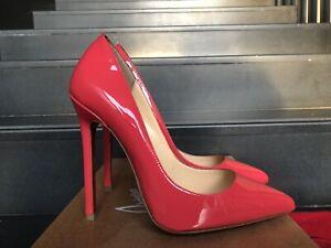 NEW CHRISTIAN LOUBOUTIN Pigalle 120 Framboisine Pink Patent Heels Pump Shoe 36,5