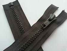 KSB Grey Zip Zipper Heavy Duty Zip 135 cm 53 Inch Open End Plastic Coated Teeth