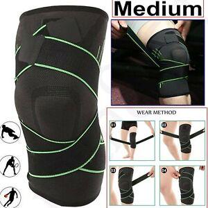 Medium Knee Support Brace Strap Compression Sleeve Sports Protector Adjustable
