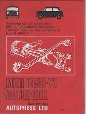 MINI (Inc COOPER & Cooper S) Riley Elf Wolseley Hornet 1959-1971 Manuale di riparazione