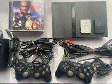 PlayStation2 slim SPCH-70000 Charcoal Black from Japan with 5games