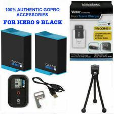 2X Battery for GoPro HERO9 BLACK ADBAT-001 + CHARGER 110-220V + REMOTE +TRIPOD