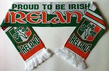 IRELAND Football Scarves NEW made with soft luxury acrylic yarns
