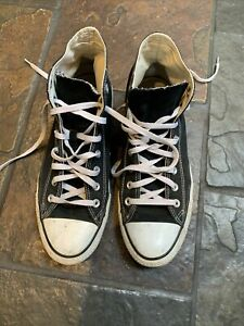 Converse Mens Black High Tops Size 11