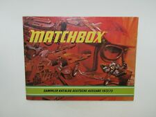 Matchbox Superfast 1972/73 Catalogue GERMAN Edition - No Graffiti - N Mint RARE