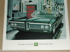 1969 Pontiac advertisement page, Pontiac Bonneville 4-door hardtop