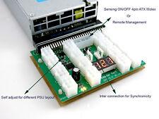 16 Port Chain Sync Power Supply Breakout Board HP DELL 1200 1400 750 GPU Mining