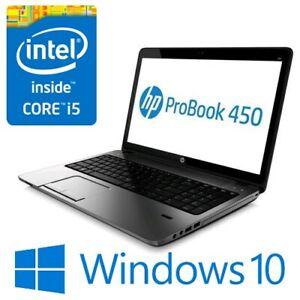 """HP ProBook 450 G2 Intel i5 5200U 8G 256G SSD WiFi 15.6"""" LED HDMI Win 10 Pro"""