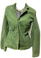 J.Crew Schoolboy Corduroy Jacket Blazer Womens Size S Spring Green Lined