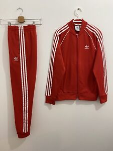 Adidas Originals Superstar Tracksuit Lush Red White Size M