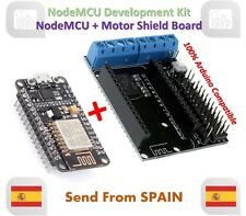 NodeMCU + Motor Shield Development Kit WIFI ESP-12E ESP8266 esp 12E for Arduino