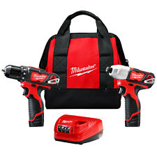Milwaukee 2494-22 M12 12-Volt Cordless Power Lithium-Ion 2-Tool Combo Kit