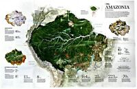 ⫸ 2015-11 Amazonia – The Human Impact – National Geographic Map Poster School