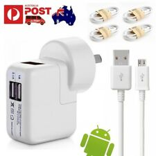 3a AU Plug AC Home Wall Travel Charger 4pcs Micro USB Sync Data Charging Cable