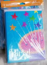 Hallmark Stationary Party Cards 12 Invitations With Cake On Front 1 Package/NEW