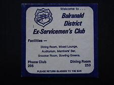 BALRANALD DISTRICT EX-SERVICEMEN'S CLUB PHONE 205 COASTER