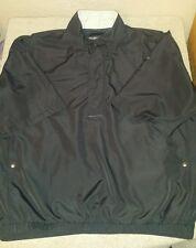 Mens Sz Large Dryjoys FootJoy Black short sleeve pullover/windbreaker w/pockets