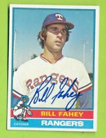 Autographed 1976 Topps Card - Bill Fahey (#436)  Texas Rangers