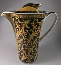 """ROSENTHAL- VERSACE - BAROCCO COFFEE POT WITH BOX 8 1/4"""" CERTIFICATE- PERFECT"""