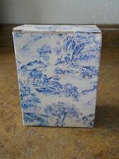 Delft Blue Square Candle Holders with Box