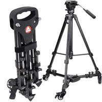 Kingjoy VX-600 Camera Tripod Dolly 3 Wheels Stand Pulley Base Camera For Camera
