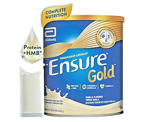 ENSURE Gold Vanilla Complete Nutrition 850g X 5 Tins NEW EXPRESS SHIPPING
