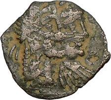 Kig RABBEL II Queen GAMILATH Aramaic Ancient GREEK NABATAEA Coin Wealth  i23847