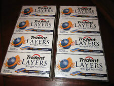 Trident Layers Gum, EXOTIC Berry + TANGY Tangerine, (24 Sealed Collector Packs)