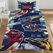 Thunderbirds Comic 100% Cotton Single Panel Duvet Cover Bed Set Official Gift