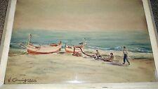 RARE TABLEAU AQUARELLE de VINCENT CERMIGNANI (1902-1971) signé