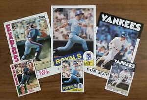 1984*1985*1986 Topps Super 5x7 Jumbo Cards *Pick Your Player* 10+ Ship FREE!