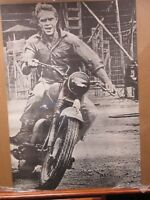 Steve McQueen Vintage Bike motorcycle 1960's The Great Escape poster #G1665