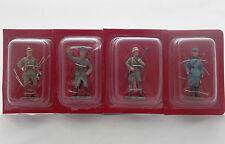 Lot 4 Figurines Hachette Soldats 1914 Guerre Mondiale Prusse Hussard Cavalerie