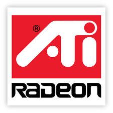 ATI radeon adesivo etichetta sticker 2cm x 2cm