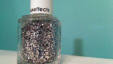 ESSIE SET IN STONES NAIL POLISH LUXEFFECTS SHIPS TODAY HTF RARE SILVER GLITTER