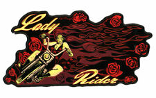 LADY BIKER RIDER MOTORCYCLE PATCH P3690 jacket ladies novelty patches roses new