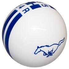 Ford Rally White Blue Stripes Pony Mustang 5 Speed shift knob M12x1.75 thread